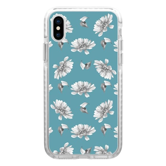 iPhone 6s Cases - Hand painted gray white watercolor floral daisies