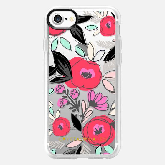 Romantic Floral Sketch - Wallet Case