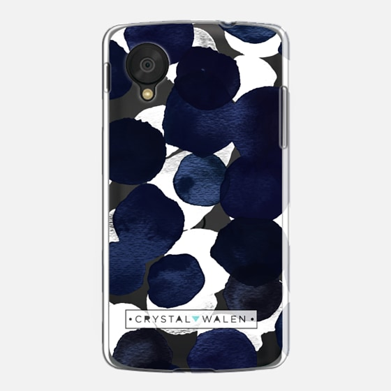 Indigo White Dots Clear