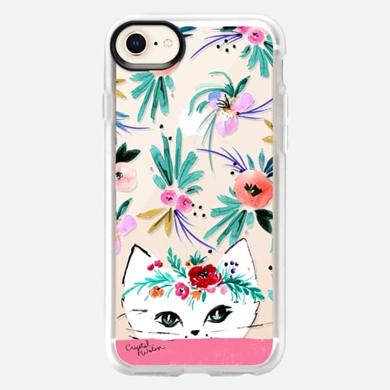Kitty Floral - Snap Case
