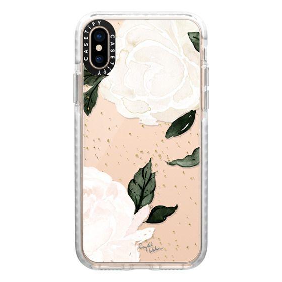 iPhone XS Cases - vintage blush floral