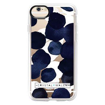 Grip iPhone 6 Case - Indigo White Dots Clear