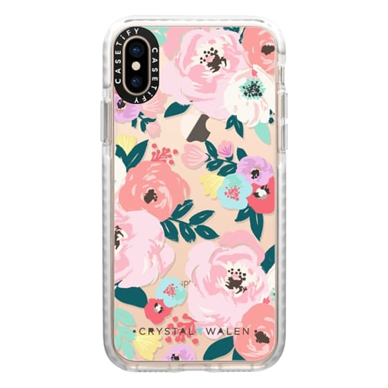 iPhone XS Cases - Lola-Floral-Clear-Romance