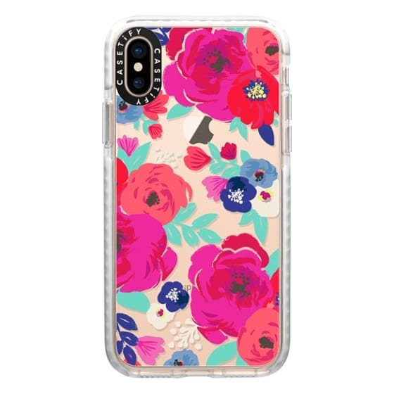 iPhone XS Cases - Sweet Pea Floral Clear