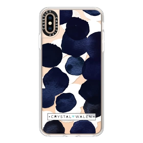 iPhone XS Max Cases - Indigo White Dots Clear