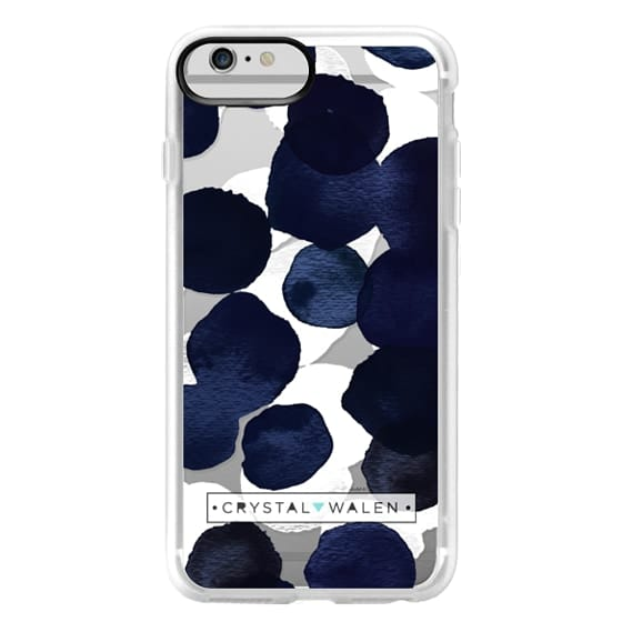iPhone 6 Plus Cases - Indigo White Dots Clear