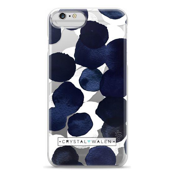iPhone 6 Plus Cases - Indigo White Dots Clear