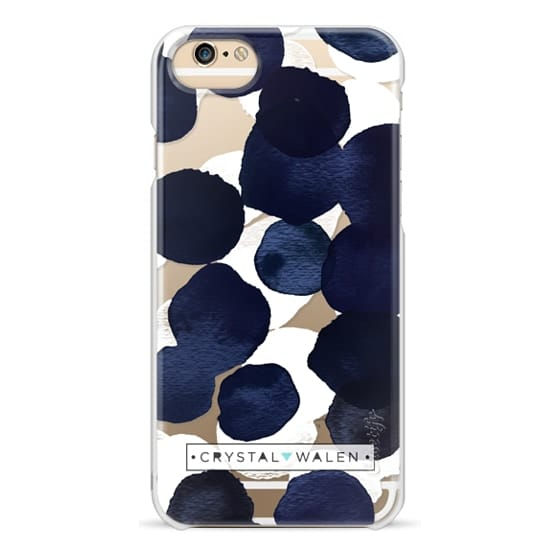 iPhone 4 Cases - Indigo White Dots Clear