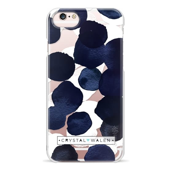 iPhone 6s Cases - Indigo White Dots Clear