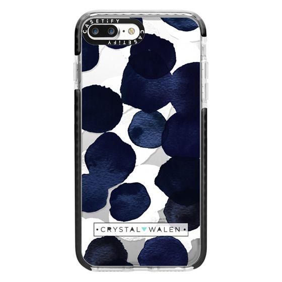 iPhone 7 Plus Cases - Indigo White Dots Clear