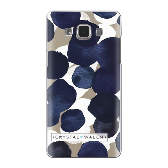 Samsung Galaxy A5 Cases - Indigo White Dots Clear