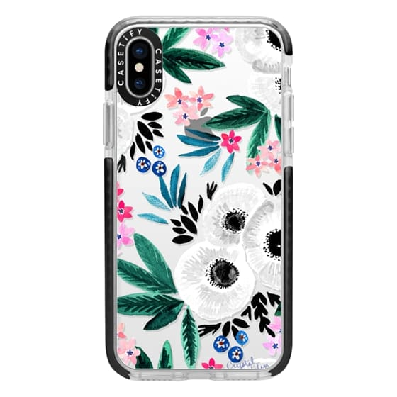 iPhone X Cases - Posie Colorful Floral Clear
