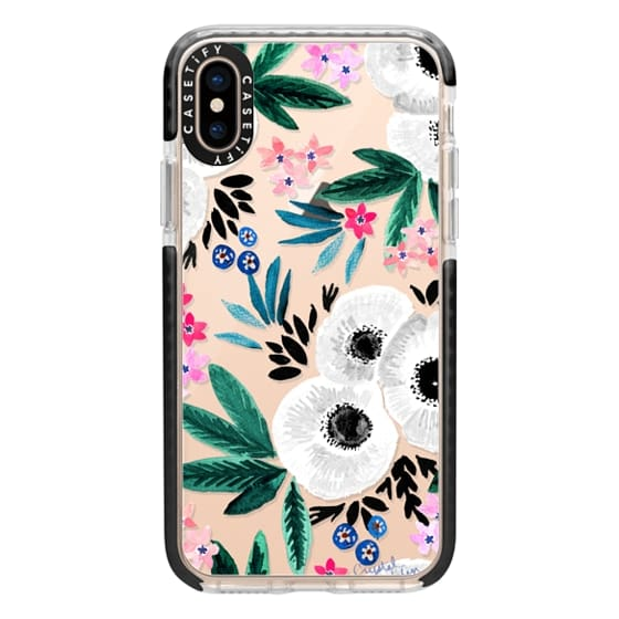 iPhone XS Cases - Posie Colorful Floral Clear