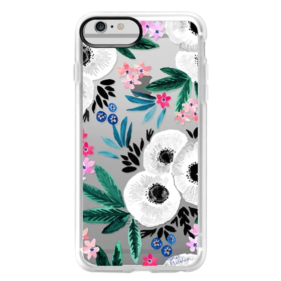 iPhone 6 Plus Cases - Posie Colorful Floral Clear