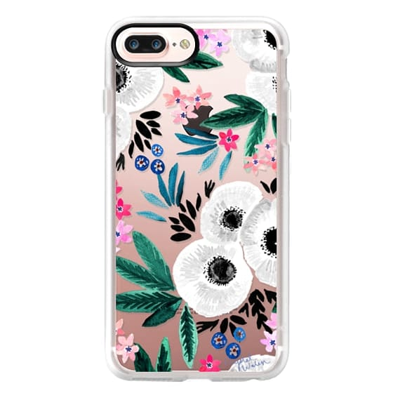 iPhone 7 Plus Cases - Posie Colorful Floral Clear