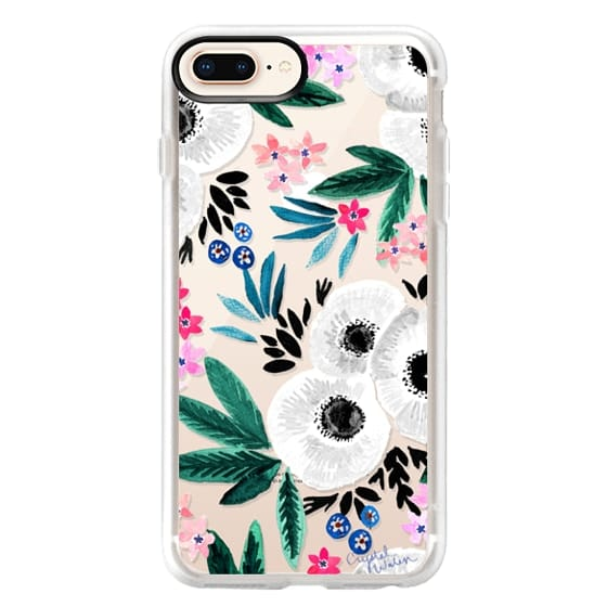 iPhone 8 Plus Cases - Posie Colorful Floral Clear