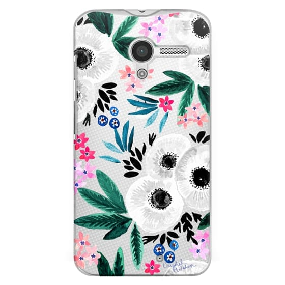 Moto X Cases - Posie Colorful Floral Clear