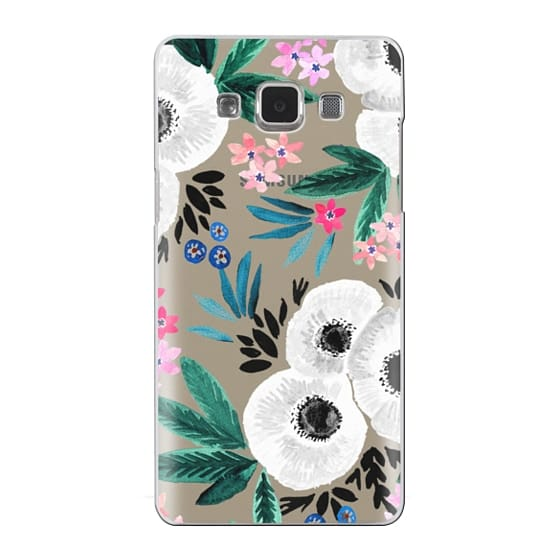 Samsung Galaxy A5 Cases - Posie Colorful Floral Clear