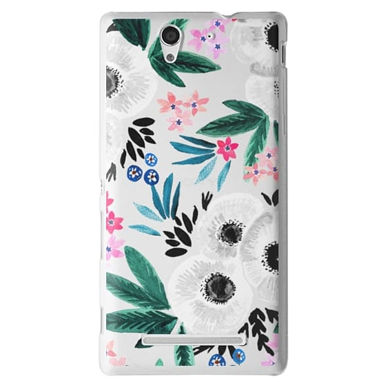 Sony C3 Cases - Posie Colorful Floral Clear