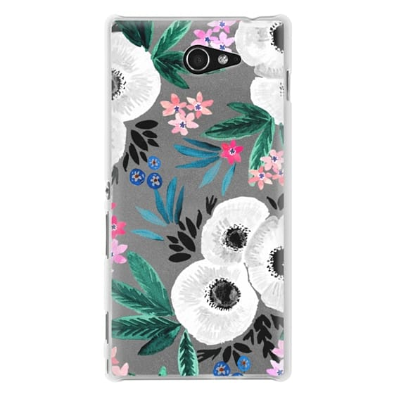 Sony M2 Cases - Posie Colorful Floral Clear