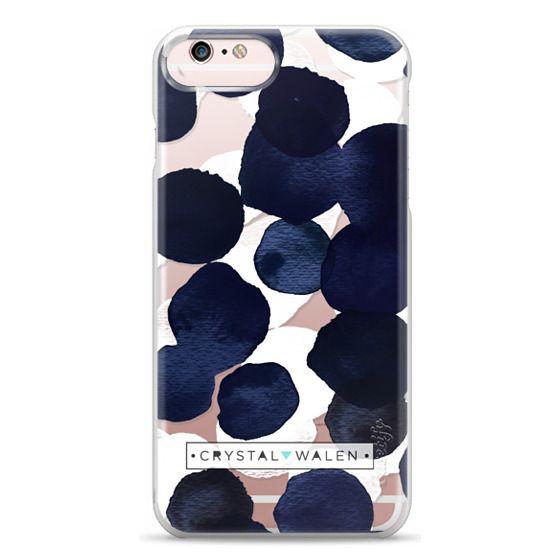 iPhone 6s Plus Cases - Indigo White Dots Clear