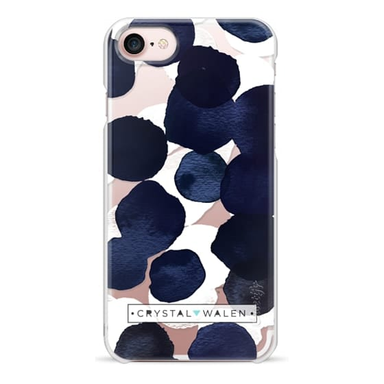 iPhone 7 Cases - Indigo White Dots Clear