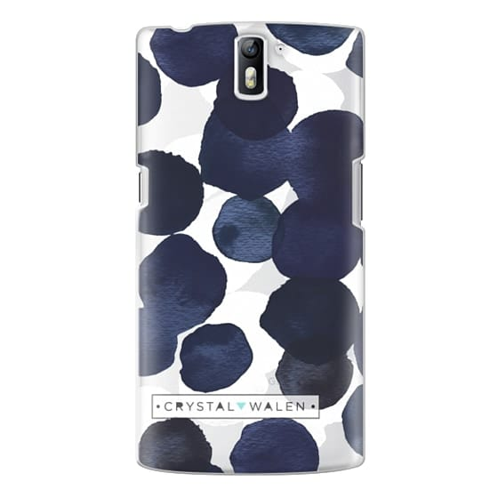 One Plus One Cases - Indigo White Dots Clear