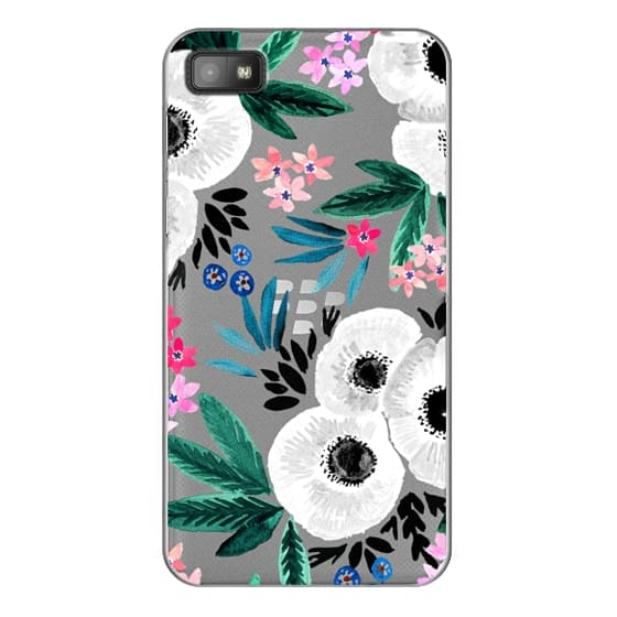 Blackberry Z10 Cases - Posie Colorful Floral Clear