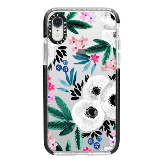 iPhone XR Cases - Posie Colorful Floral Clear