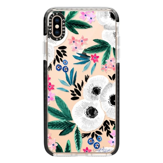 iPhone XS Max Cases - Posie Colorful Floral Clear