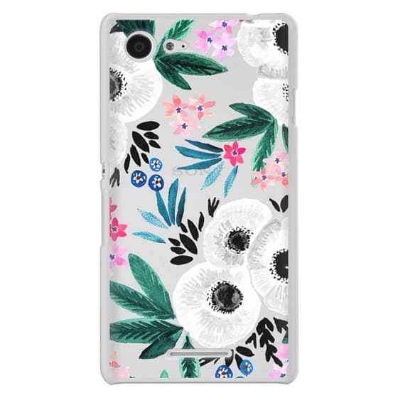 Sony E3 Cases - Posie Colorful Floral Clear