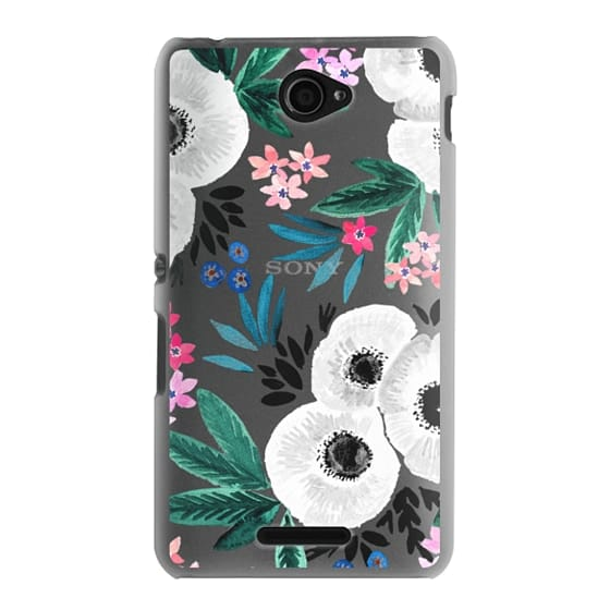 Sony E4 Cases - Posie Colorful Floral Clear