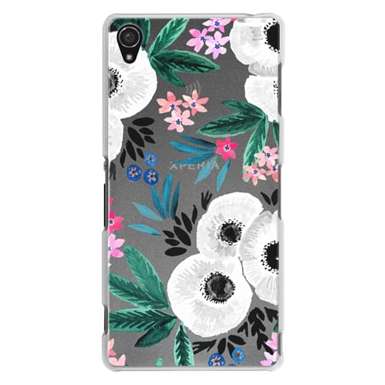 Sony Z3 Cases - Posie Colorful Floral Clear