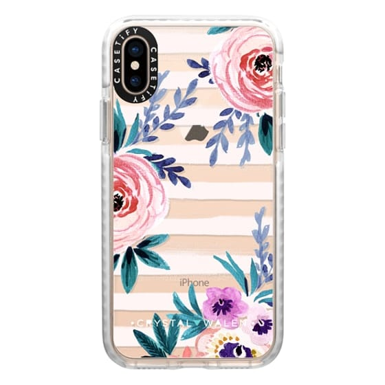 iPhone XS Cases - Victoria_Flower-soft-blushing-clear