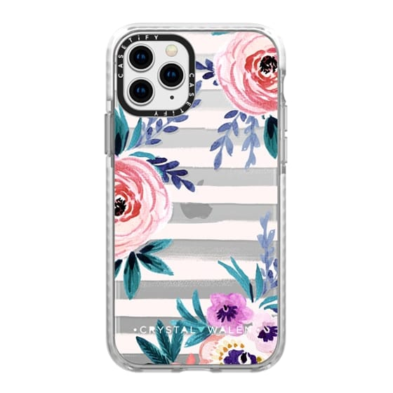 iPhone 11 Pro Cases - Victoria_Flower-soft-blushing-clear