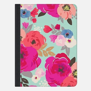 iPad Air 2 Case Sweet Pea Aqua Floral