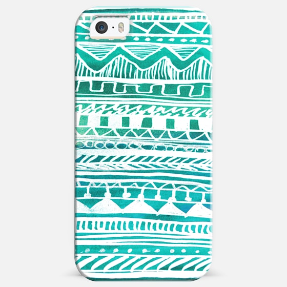 Turquoise Aztec Pattern -