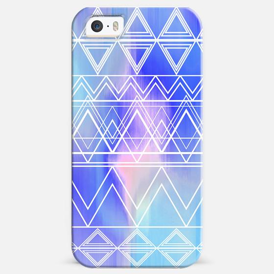 Blue Multicolor Tribal -