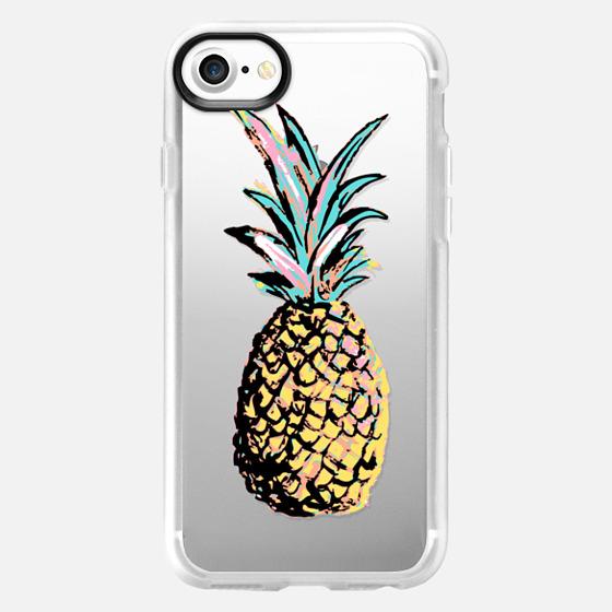 Pastel Party Pineapple Transparent  - Wallet Case