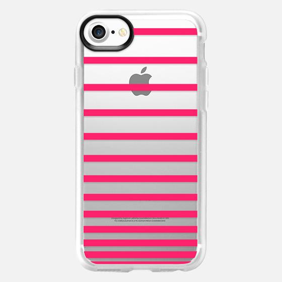 Pink Ombre Stripes Transparent  - Wallet Case