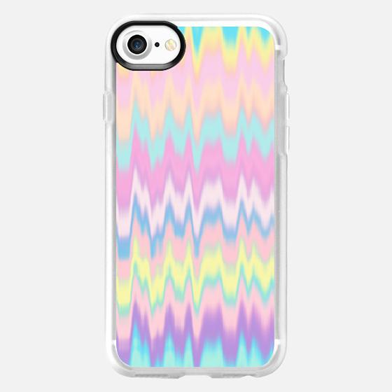 Pastel Candy Tie Dye Waves  - Wallet Case