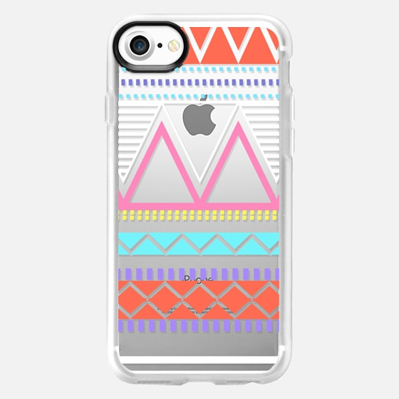 Bright Pastel Tribal Transparent  - Wallet Case