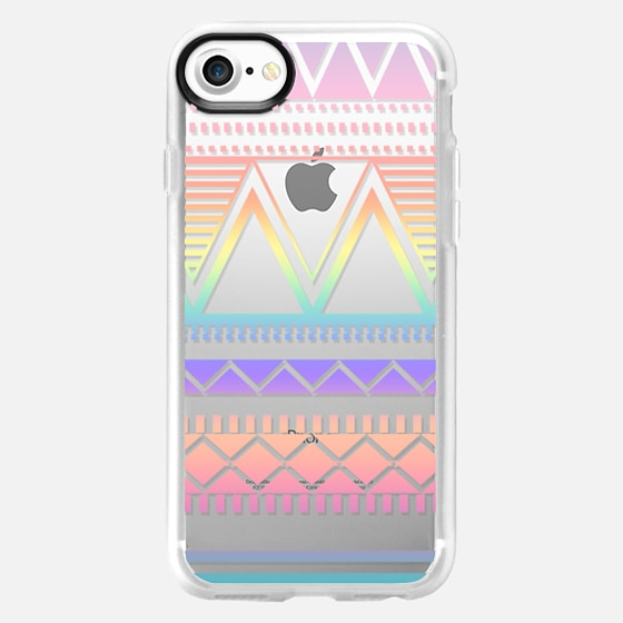 Cotton Candy Rainbow Tribal Transparent  - Wallet Case