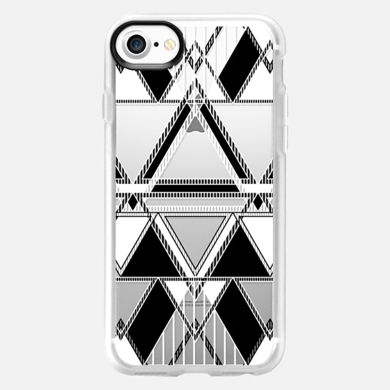 Black and White Linear Tribal  - Wallet Case