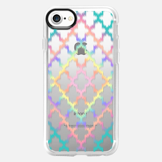 Diamond Rainbow Ikat Quatrefoil  - Wallet Case