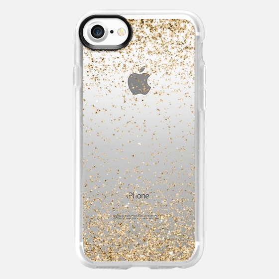Gold Sparkly Glitter Burst  - Wallet Case