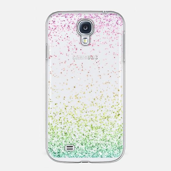 Colorful Ombre Sparkly Glitter Burst