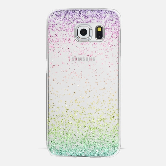 Colorful Ombre Sparkly Glitter Burst