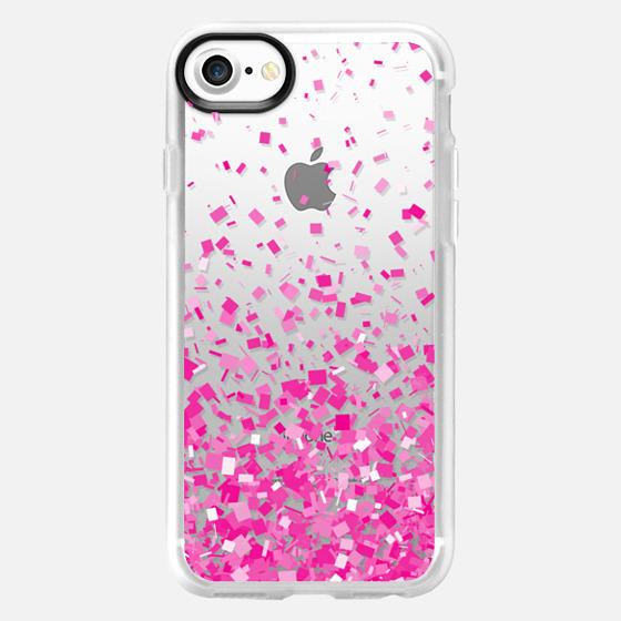 Pink Party Confetti Explosion Transparent  - Wallet Case