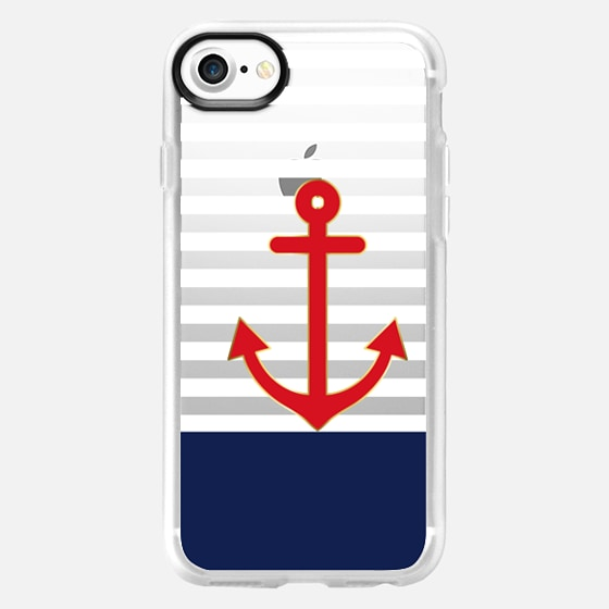 Classic Nautical Sailor Transparent - Wallet Case
